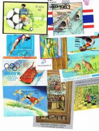 10 different Laos Souvenir and Miniature Sheets packet